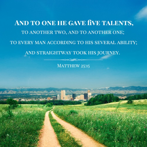 Image result for bible verse on talents