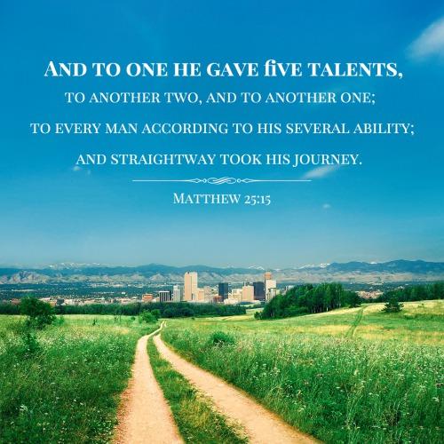 Bible Verse – Matthew 25:15