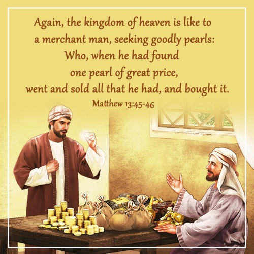 Bible Verse – Matthew 13:45-46