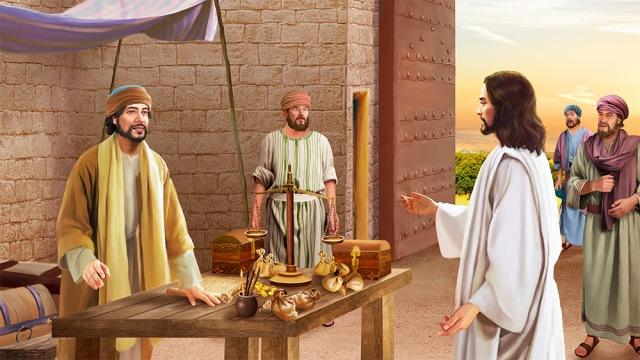 Jesus Calls Matthew,Bible Story,Jesus,Matthew