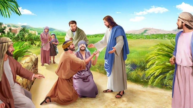 Jesus Heals Two Blind Men – Bible Story