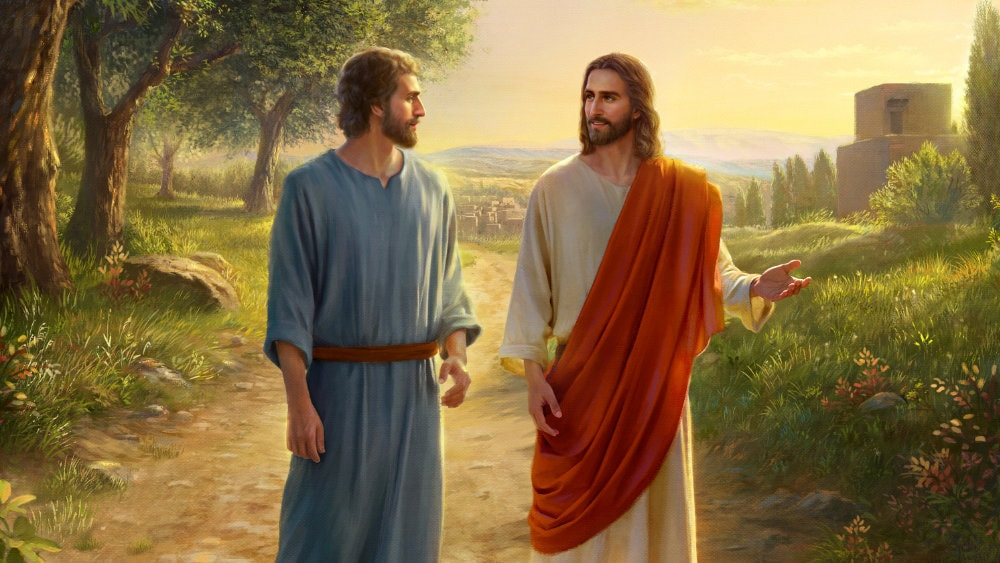 peter and jesus walking on the road, the Lord Jesus Approve of Peter's Faith