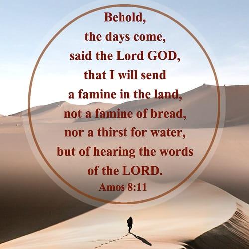 Bible Verse -Amos 8:11