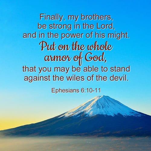 Bible Verses Ephesians 6-10-11