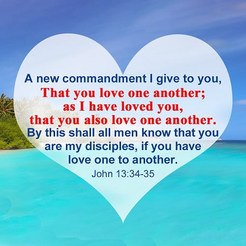Bible Verse – John 13:34-35