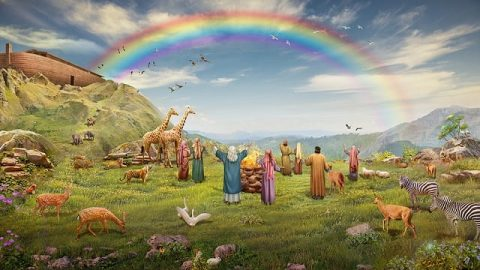 God Makes the Rainbow as a Symbol of His Covenant With Man