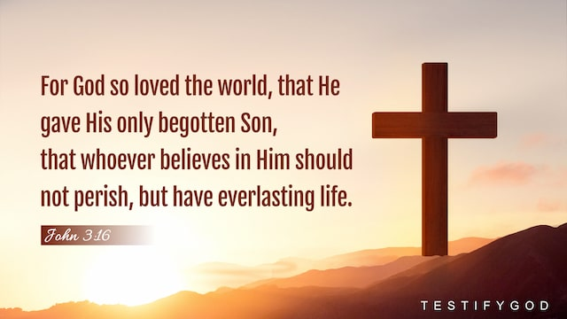 For God so loved the world, that he gave his only begotten Son, that whoever believes in him should not perish, but have everlasting life (John 3:16).