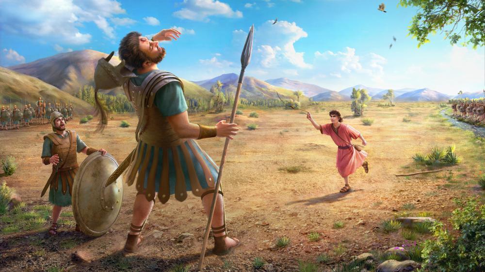 David defeats Goliath