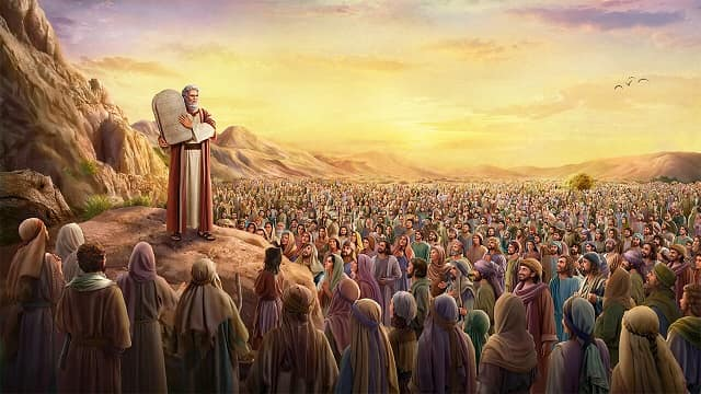 Moses conveyed 613 commandments to the Israelites