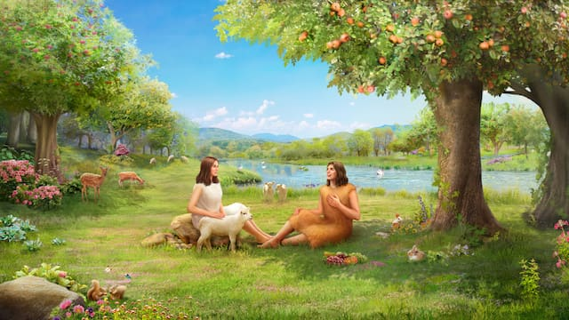 Adam and Eve lived in the Garden of Eden