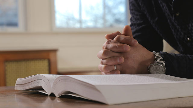 Reading, praying