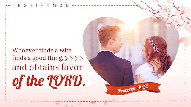 Proverbs 18:22 Whoever finds a wife finds a good thing, and obtains favor of the LORD.