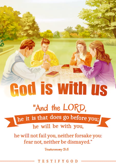 God is with us – Deuteronomy 31:8