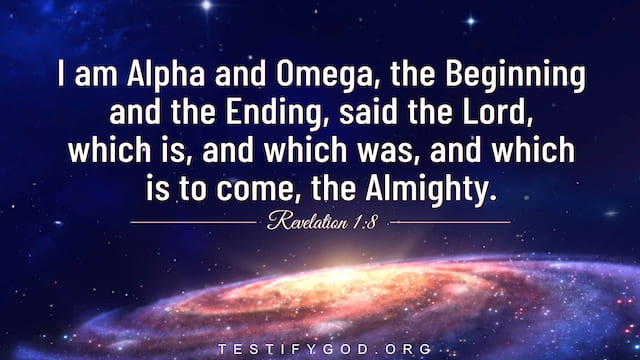 Bible Verses About God's Name, I am Alpha and Omega