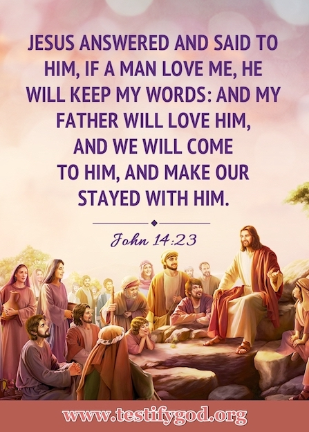 Bible Quote Image About Loving God – John 14:23