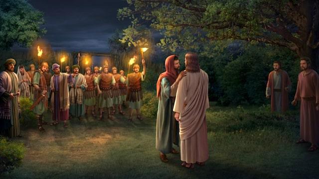 Judas' betrayal of Jesus