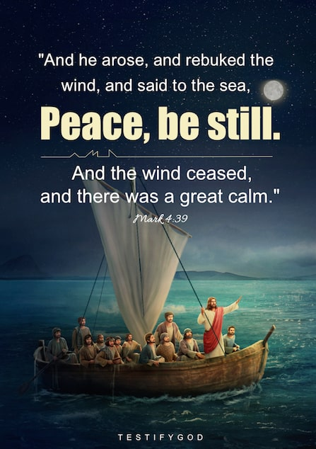 The Lord Jesus Rebukes the Wind and the Sea – Mark 4:39
