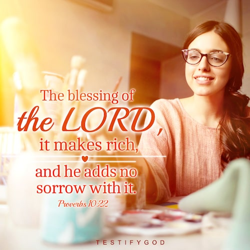 Proverbs 10:22, Gospel Quote, The Blessing of God