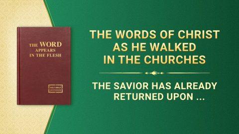 "The Savior Has Already Returned Upon a ""White Cloud"""