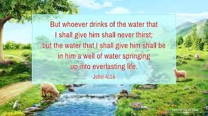 Living Water of Life – Reflection on John 4:14