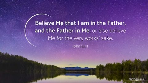 The Father and Son Are One – Gospel Reflection on John 14:11