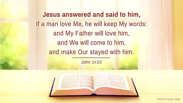 Gospel Reflection on John 14:23, Today's Gospel