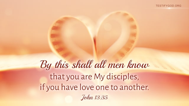 John 13:35, have love one to another
