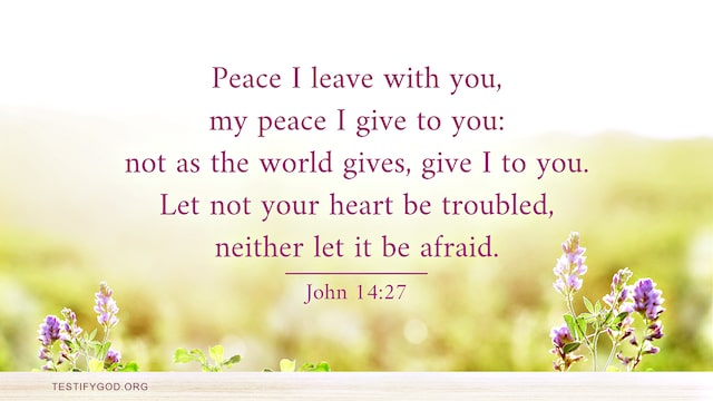 Peace I leave with you, Bible Verse - John 14:27
