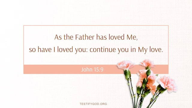 As the Father has loved me, so have I loved you: continue you in my love. – John 15:9