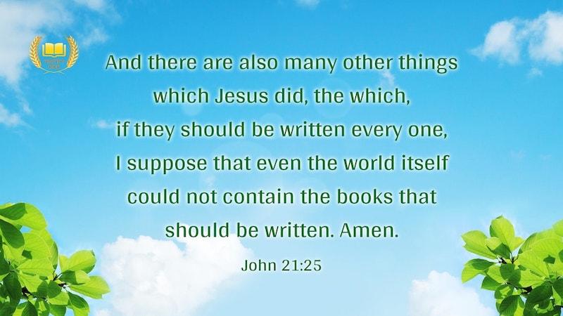 Reflection on John 21:25