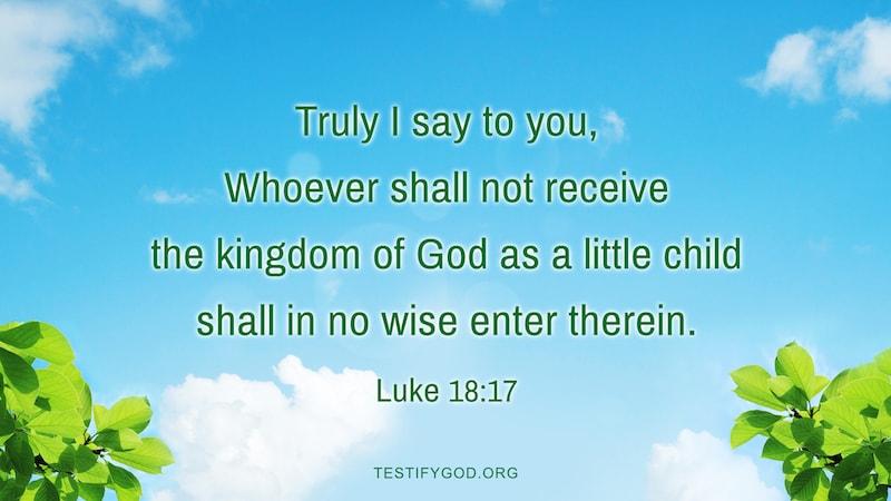 Reflection on Luke 18:17