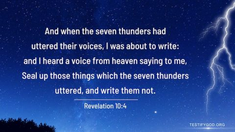 The Voice of the Seven Thunders – Reflection on Revelation 10:4
